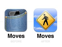 Moves app icon redesign