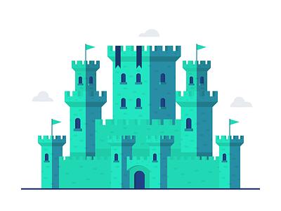 Castle Illustration medieval castle design illustration vector