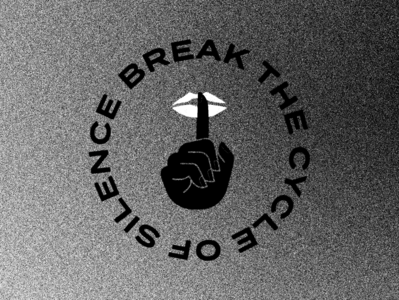 Break the Silence black and white noise texture typography silence illustration blm black lives matter