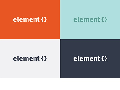 ElementCSS Logo logo css element elementcss color color palette color scheme brand identity logo design