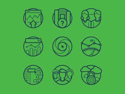 Big Data Icons icons illustration data analysis big data