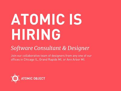 Atomic is Hiring ann arbor grand rapids illinois chicago michigan midwest hcd ux consultant designer hiring