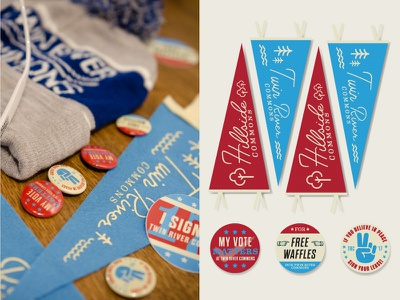 Lease-Up Campaign Printed Thangs oh boy pennants college campaign