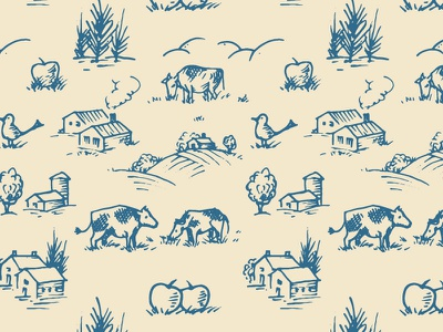 Upstate Farm Pattern whatever cows farms agriculture pattern