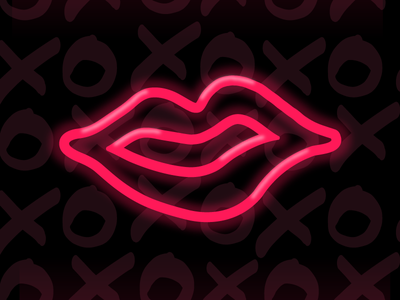 XOXOXO restaurant branding restaurant neon tacos lips xoxo