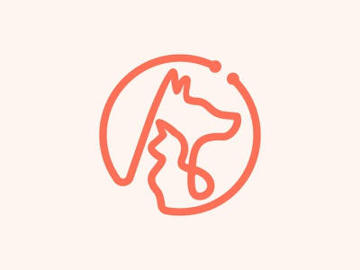 Veterinary Clinic Identity logomark veterinarian cat dog veterinary