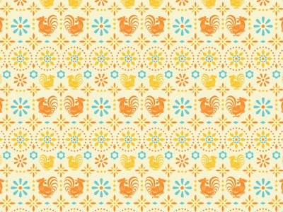 Rooster Tile Pattern mexican restaurant pattern rooster