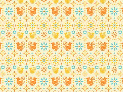 Rooster Tile Pattern
