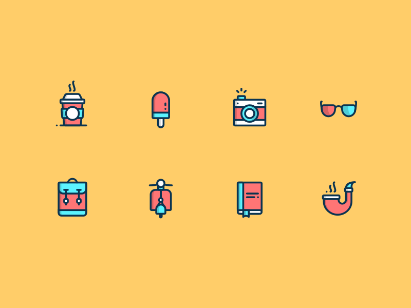 Daily UI Day 055 Icon Set (Freebie) download free freebie sketch color flat 055 icons set icon dailyui