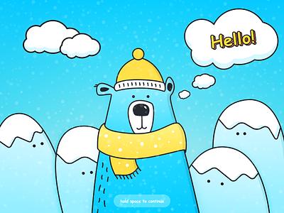 Comic Sans Challenge / UI Challenge — Week 08 blue bear illustration challenge ui weekly sans comic