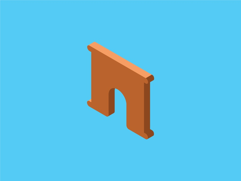 Isometric Archway Icon ui building isometric graphic  design graphic isometric design vector illustration flat design
