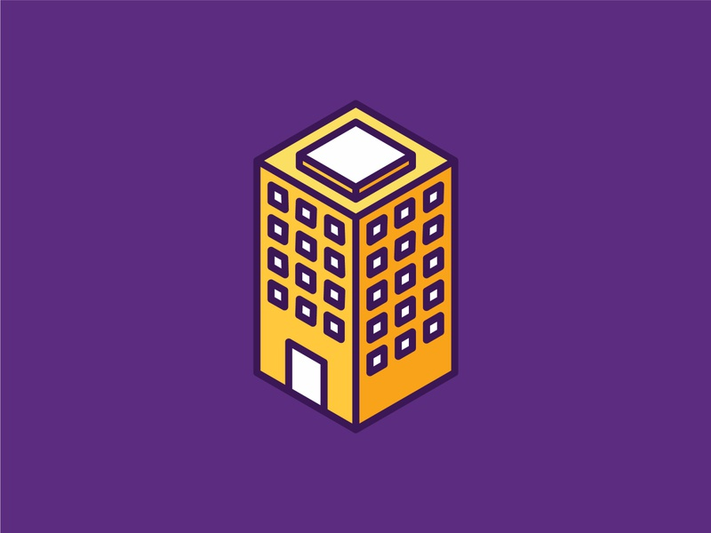 Isometric Building Icon ui building isometric graphic  design graphic isometric design vector illustration flat design