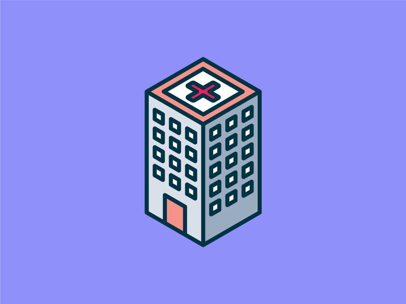 Isometric Hospital Icon