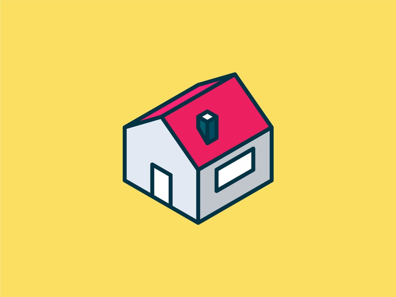 Isometric Home Icon ui building isometric graphic  design graphic isometric design vector illustration flat design