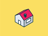 Isometric Home Icon