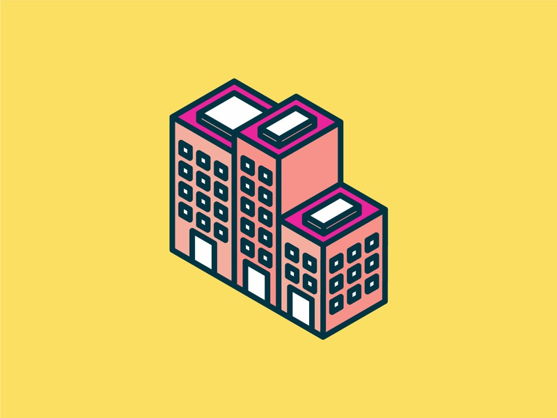 Isometric City Icon ui building isometric graphic  design graphic isometric design vector illustration flat design