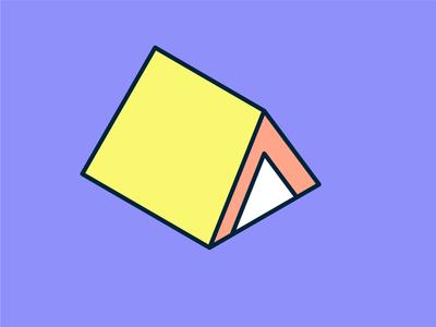 Isometric Campground Icon