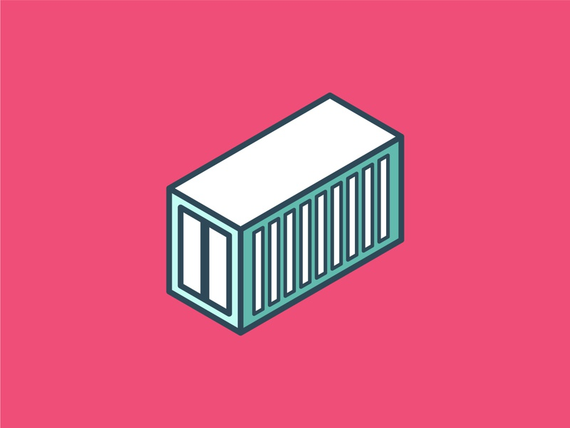 Isometric Container Icon ui building isometric graphic  design graphic isometric design vector illustration flat design