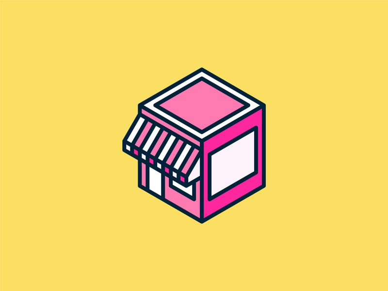 Isometric Shop Icon ui building isometric graphic  design graphic isometric design vector illustration flat design
