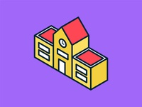 Isometric School Icon