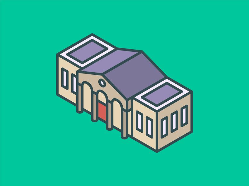 Isometric University Icon