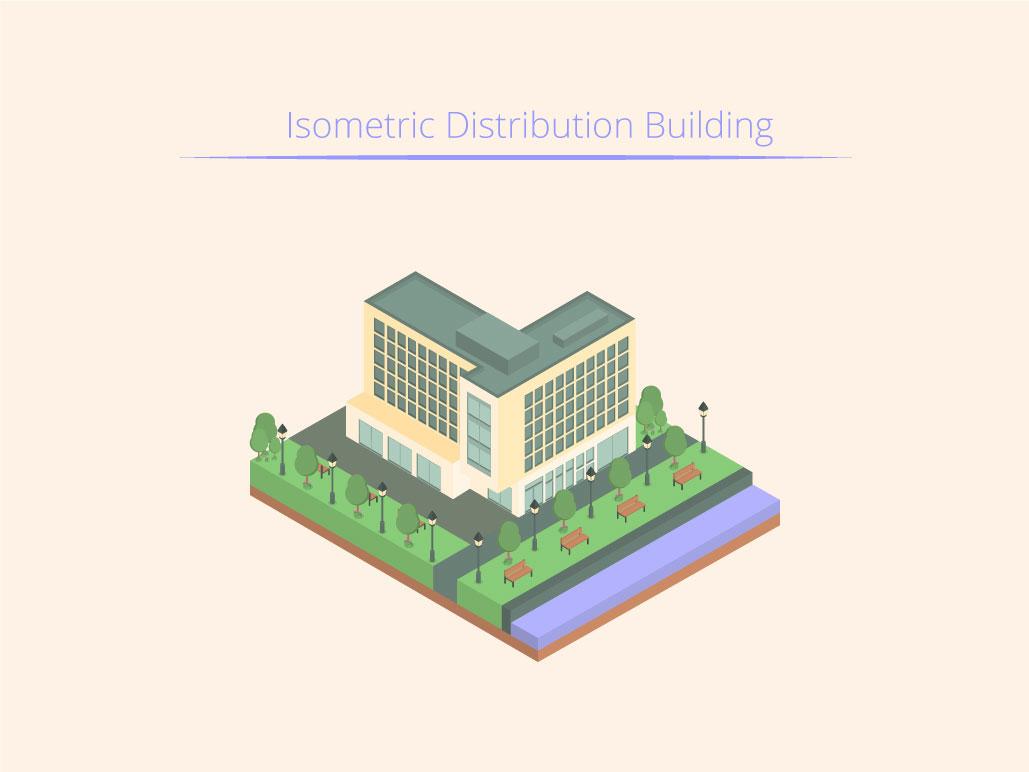 Isometric Distribution Building isometric graphic  design graphic isometric design building vector illustration flat design