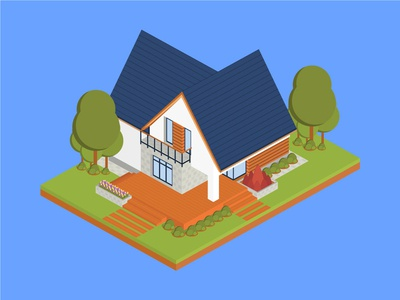Isometric San Juan House isometric graphic  design graphic isometric design building vector illustration flat design