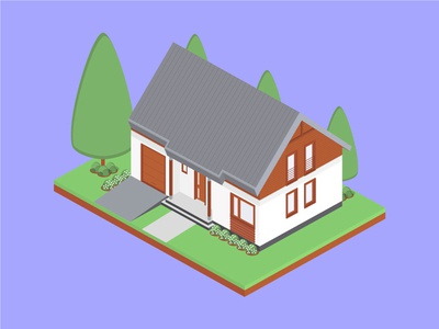 Isometric Manatee House isometric graphic  design graphic isometric design building vector illustration flat design