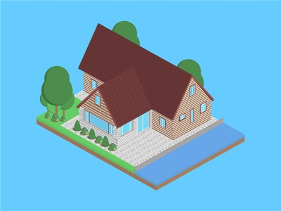Isometric Buccaneer House isometric graphic  design graphic isometric design building vector illustration flat design