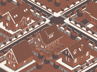 Isometric Combo Vintage Houses Map
