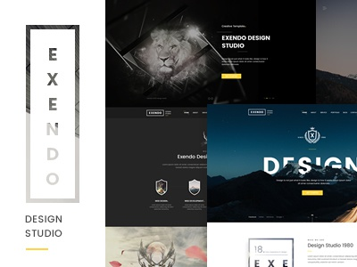 Exendo - Ceative PSD Tmeplte theme template psd template psd portfolio personal minimal ecommerce creative clean