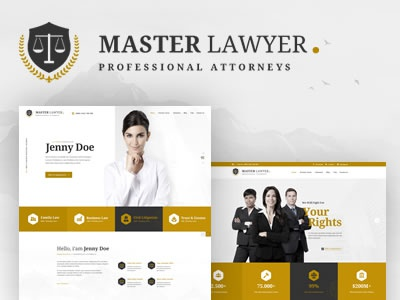 Master Lawyer Website Template by youwes - Dribbble