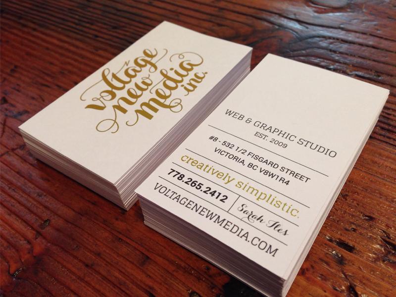 VNM White & Gold Business Cards by Matt Magi - Dribbble