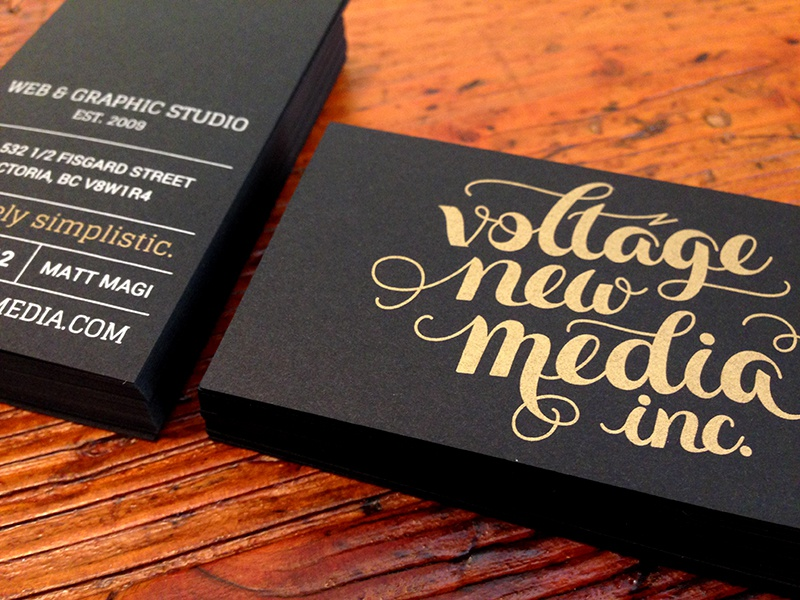 VNM Black & Gold Business Cards by Matt Magi - Dribbble
