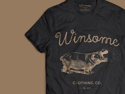 Winsome illustration lettering vintage gold black t-shirt tshirt shirt