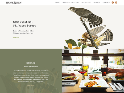 Restaurant Website  restaurant food photography wordpress website web design clean white minimal typography illustration