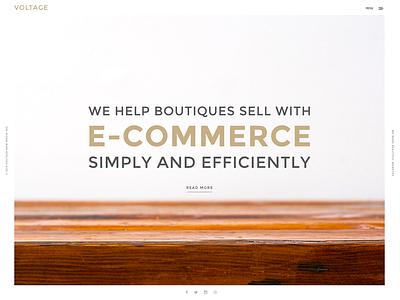 Voltage wood ux ui typography minimal white clean web design website wordpress
