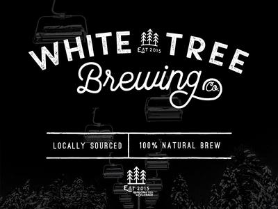 White Tree Brewing WIP #1 lettering script wordmark brandmark typography branding logo