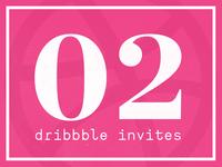 x02 dribbble invites