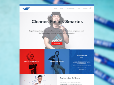 Eagle Energy - Shopify Store bold web design webdesign ui ux ecommerce shopify web site website web