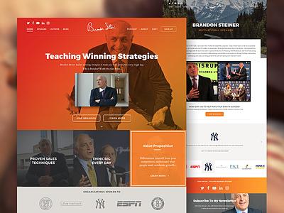 Brandon Steiner - Shopify Site ecommerce bright website design website web design design shopify