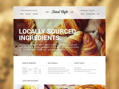 Toast Cafe wordpress theme wordpress cafe web design webdesign web site website