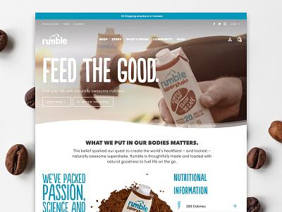 Rumble Supershake video animation web video video background beverage drink shop e-commerce ecommerce shopify theme shopify store shopify website webdesign web design