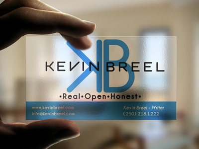 Kb plastic business card by matt magi dribbble created a logo and transparent business card for a client this is just a mockup but they will be printed on a transparent plastic card from from taste of reheart Choice Image