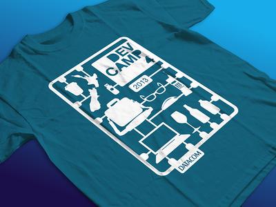 Datacom Dev Camp Tshirt cutout graphic t-shirt