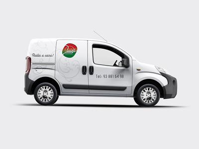 Pastificio Luigi delivery pasta vehicle logo branding