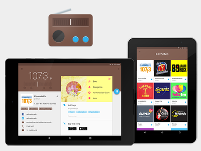 Radio app for tablets app icon material design app android tablet radio ux ui