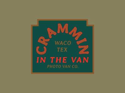 Crammin' in the Van vanagon vw van neon sign texas waco old sign neon retro vintage photobooth