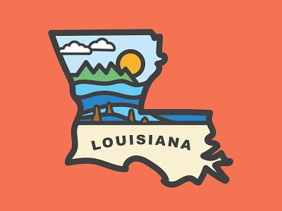 Louisiana Illustration tigers gator fishing baton rouge mississippi south deep south swamp bayou louisiana