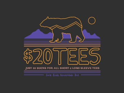 Tribal Bear $20 Tees colorado denver north carolina california vw van outdoors mountains explore adventure bear